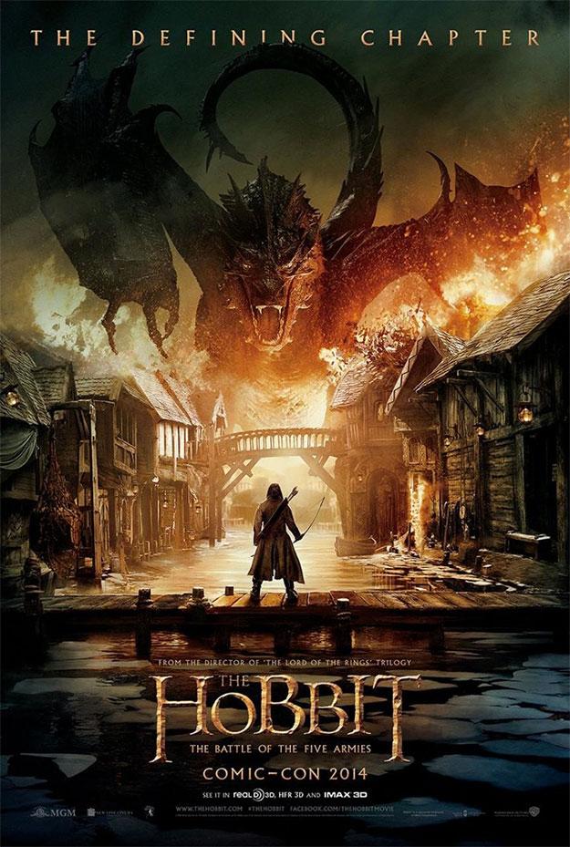 Póster especial para la Comic-Con para la promoción de El Hobbit: La Batalla de los Cinco Ejércitos