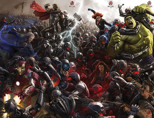 El póster completo de Avengers: Age of Ultron para la Comic-Con 2014