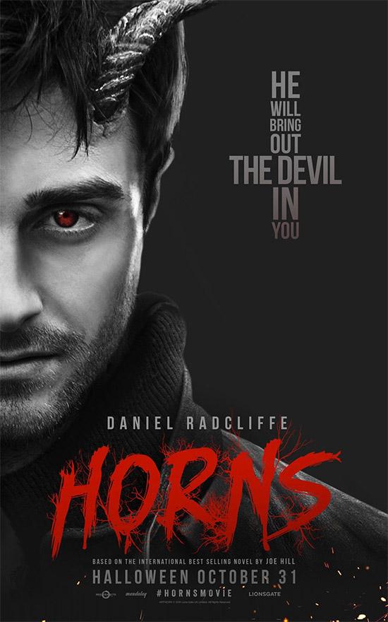 Nuevo cartel de Horns con Daniel Radcliffe como centro de las miradas