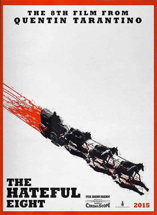 El cartel de The Hateful Eight aparecido no hace mucho