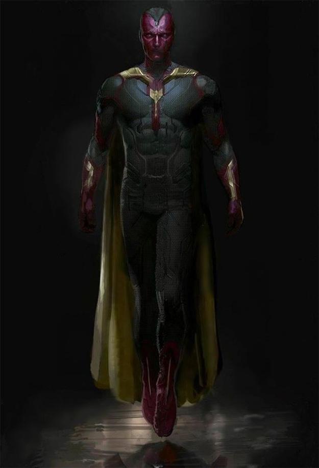El mejor vistazo posible al aspecto de la Visión en Avengers: Age of Ultron