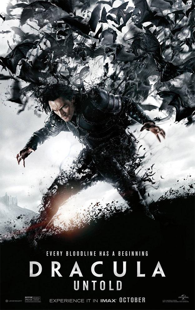 Un nuevo cartel de Drácula: la leyenda jamás contada, es chulo