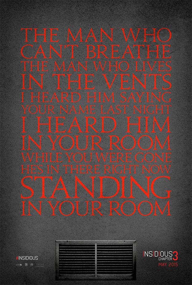 El primer cartel de Insidous 3 es poesía