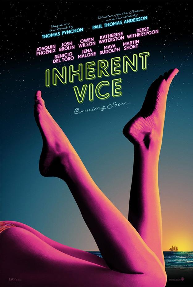 El primer cartel de Inherent Vice, vicio, vicio y vicio