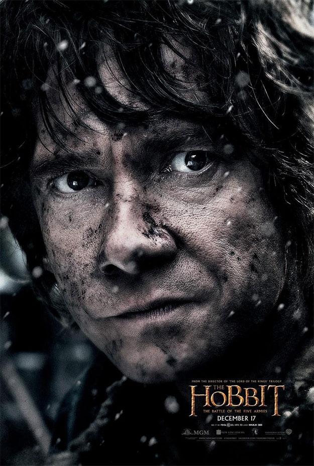 El cartel final de personajes de El Hobbit: La Batalla de los Cinco Ejércitos