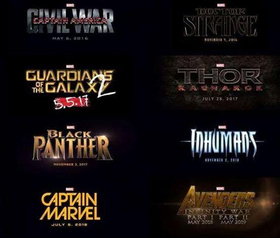 El calendario de Marvel Studios por /Films