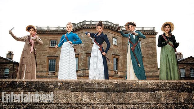 Primera imagen de las hermanas Bennet en Pride and Prejudice and Zombies