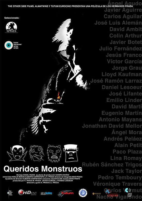 Primer cartel del documental Queridos Monstruos de Kiko y Javi Prada