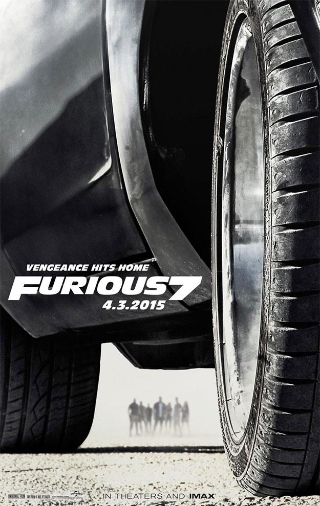 El cartel este de Furious7, aunque simple un rato largo, es altamente juguetón