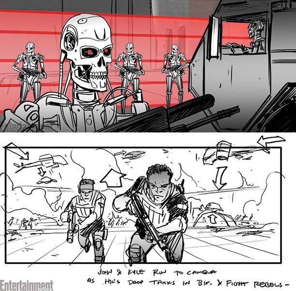 Dos detalles del storyboard de Terminator: Genisys