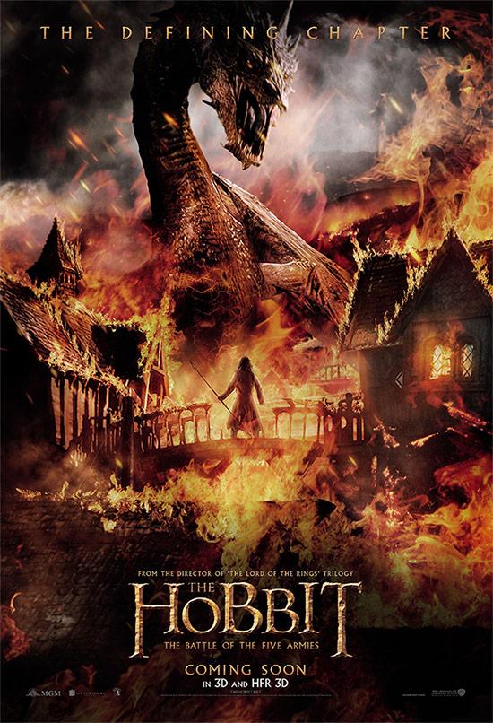 Y otro ardiente cartel de El Hobbit: La Batalla de los Cinco Ejércitos