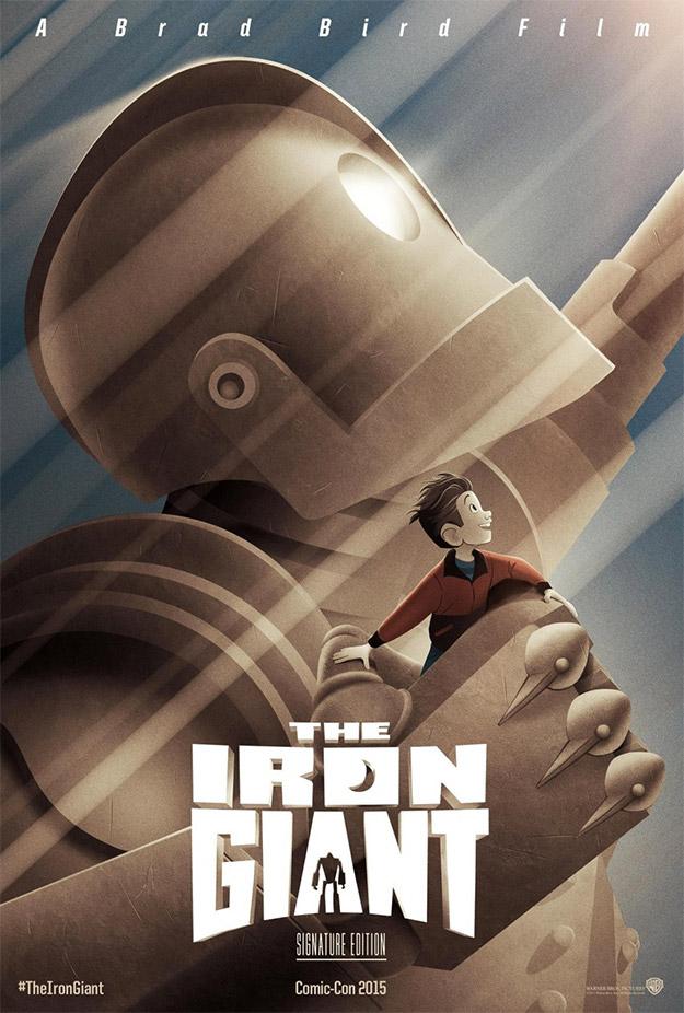 Fabuloso cartel de El Gigante de Hierro con motivo de su reestreno