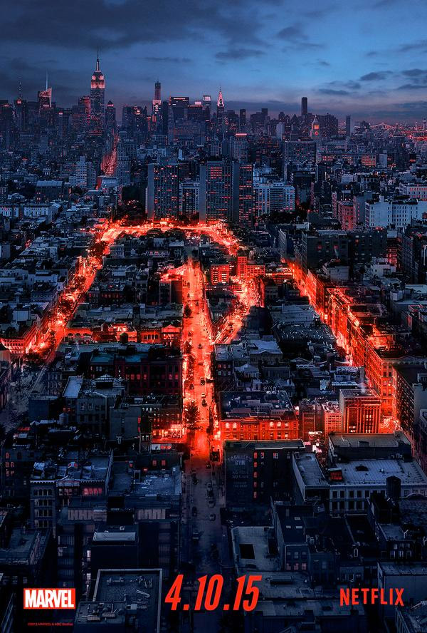 El cartel de Daredevil que mola un rato largo…