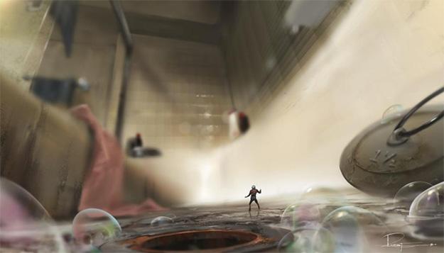 Genial concept art de Ant-Man! Esto puede dar mucho juego