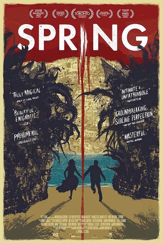 Un nuevo cartel bastante molón del film de terror SPRING