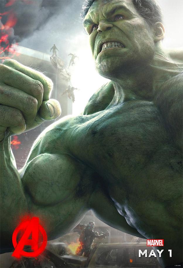 El segundo cartel de personajes de Vengadores: La Era de Ultron y es el turno de Hulk
