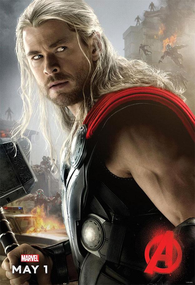 Otro cartel de personaje de Vengadores: La Era de Ultrón. Thor