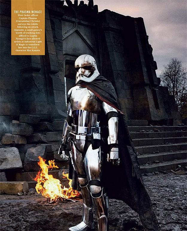 Gwendoline Christie como la Capitana Phasma en Star Wars: El Despertar de la Fuerza