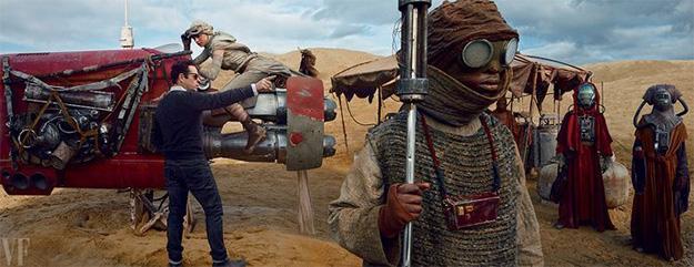 J.J. Abrams en pleno rodaje de Star Wars: El Despertar de la Fuerza