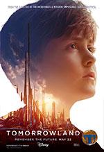 Cuatro carteles de personajes de Tomorrowland