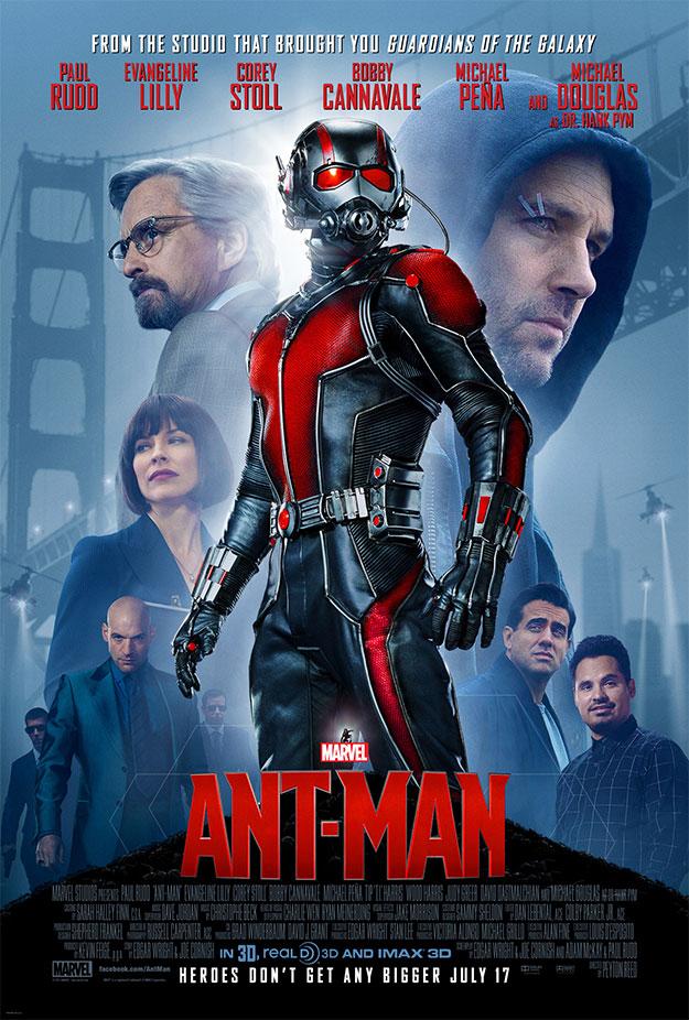 Lo mejor del cartel de Ant-Man el montaje Michael Peña y Bobby Cannavale