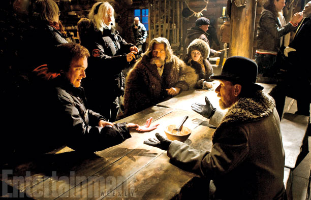 Quentin Tarantino dirigiendo The Hateful Eight
