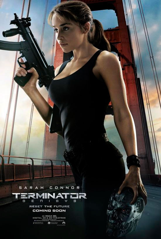 Emilia Clarke como Sarah Connor