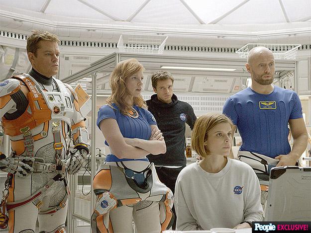 Matt Damon, Jessica Chastain, Sebastian Stan, Kate Mara y Aksel Hennie