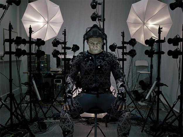 Andy Serkis haciendo de las suyas... en el traje mo-cap