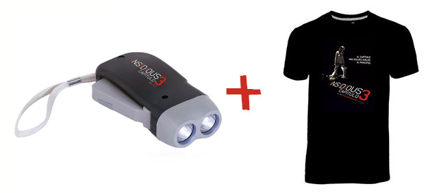 Los regalos de este concurso... cinco packs lámpara y camiseta de Insidious Capítulo 3