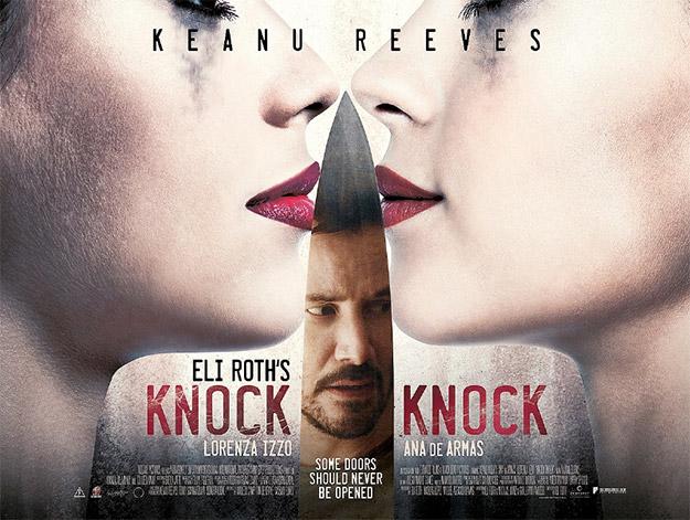 Un cartel de Knock Knock
