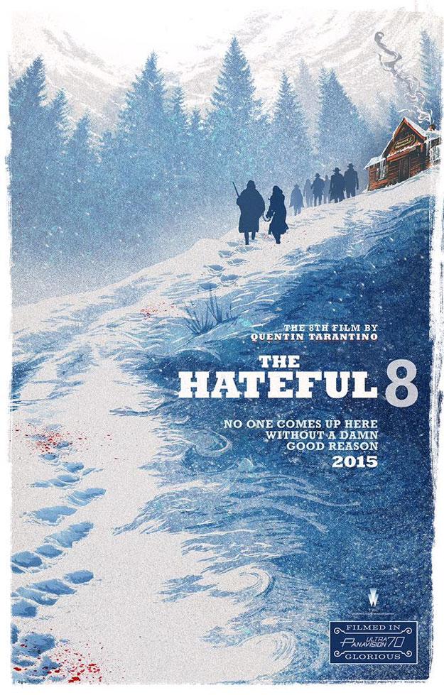Fabuloso póster de Los Odiosos Ocho de Quentin Tarantino