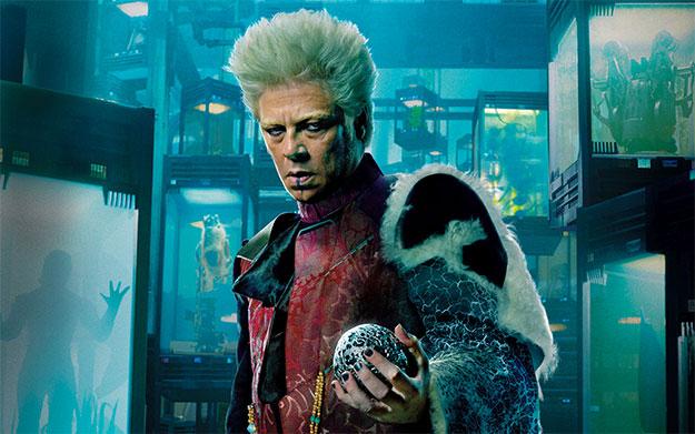 Benicio del Toro en Guardianes de la Galaxia... preparado para todo