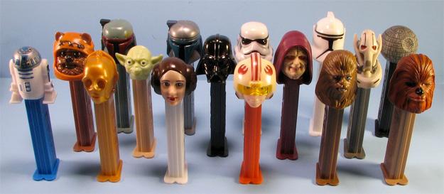 Star Wars y los caramelos PEZ, primos y hermanos