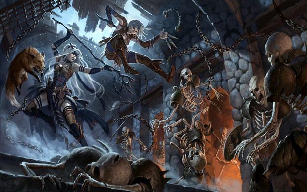 Dibujo de los libros de Dungeons & Dragons