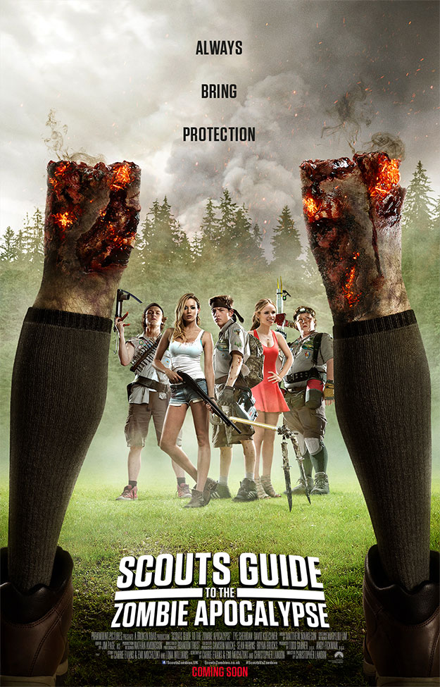 Cartel brutote de Scouts Guide to the Zombie Apocalypse
