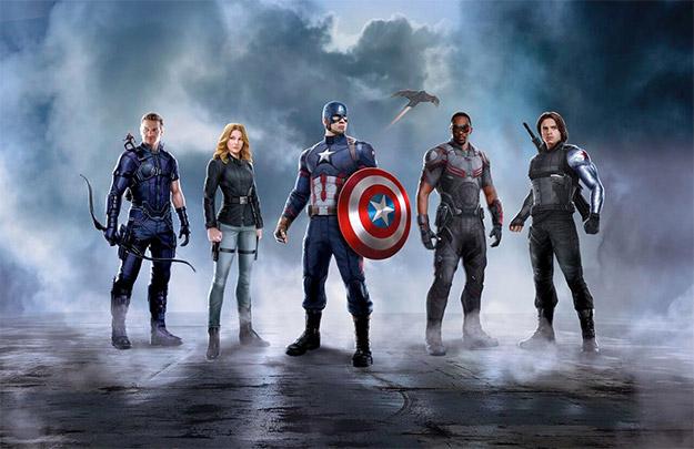 Hawkeye, Ant-Man, Agent 13, Capitán América, Halcón y Soldado de Invierno