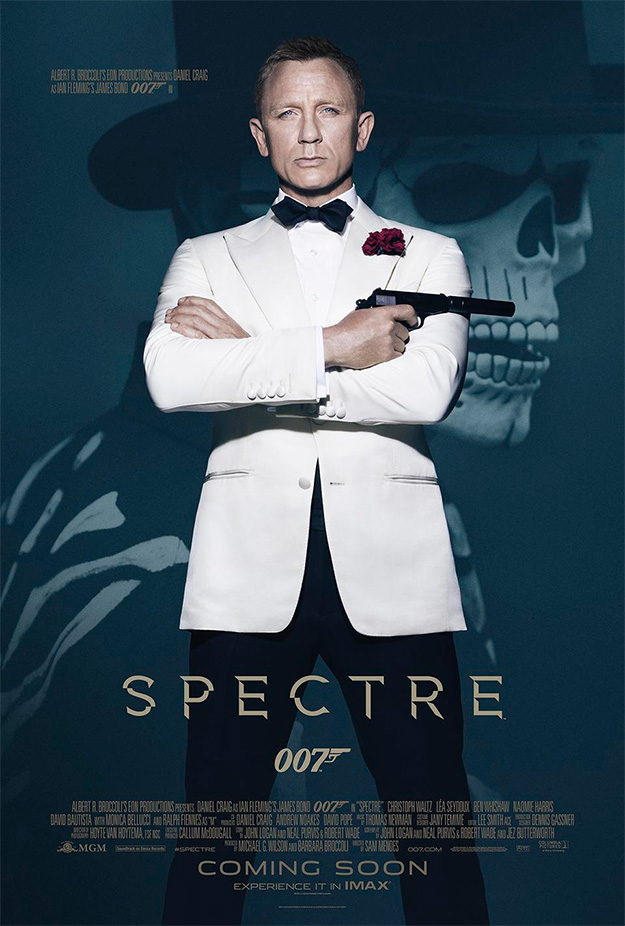 Un cartel de SPECTRE, un mar de referencias