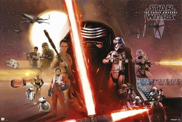 Nuevo cartel ilustrado para merchandising de Star Wars: El Despertar de la Fuerza