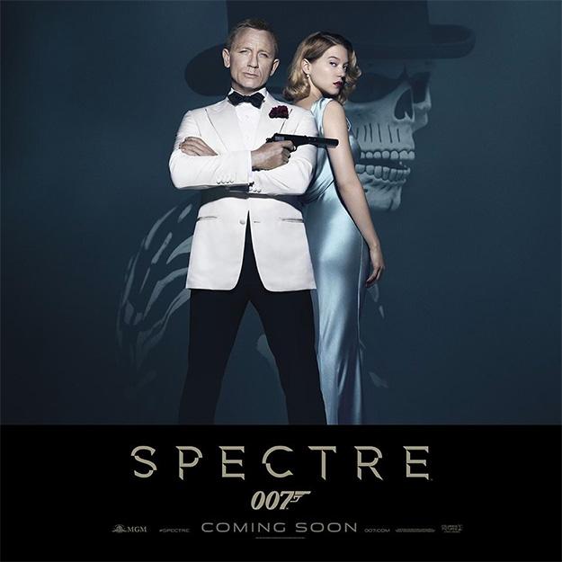 James Bond (Daniel Craig) y Madeleine Swan (Léa Seydoux) en un nuevo cartel de SPECTRE