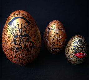 """Kathleen Sanders """"Del Toro Nesting Egg Set"""""""