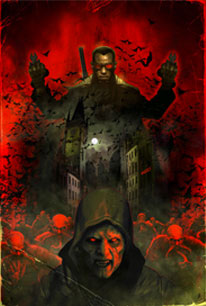 """Dave Wilkins """"The Fall of the House of Damaskinos"""" Wood Print"""