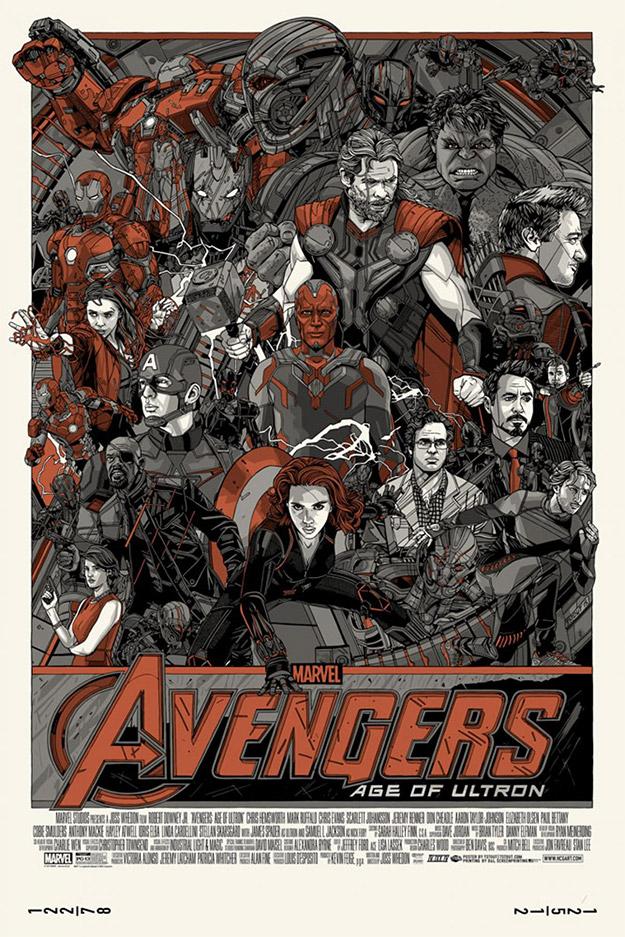 Cartel de Tyler Stout para Vengadores: La Era de Ultrón