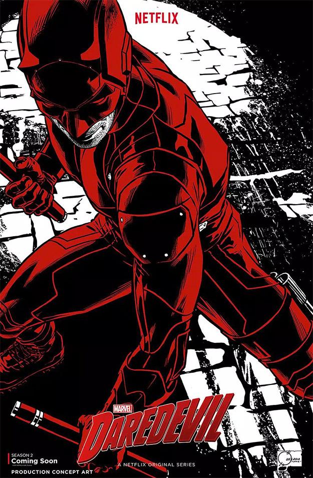"""¿Mola o no mola este póster concept art de """"Daredevil""""?"""
