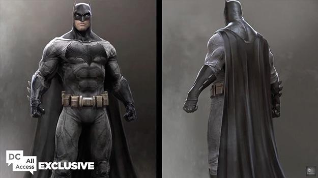 Frontal y espalda del nuevo traje de Batman