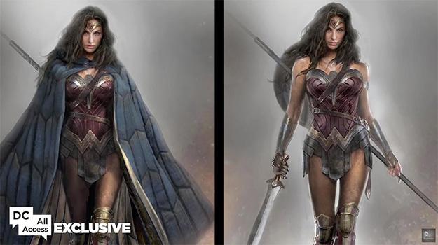 Frontal cubierto y descubierto del traje de Wonder Woman #1