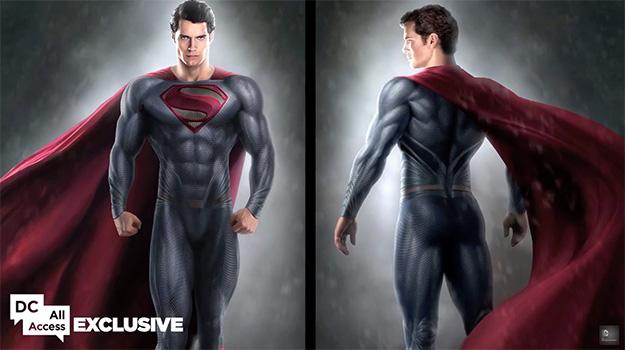 Frontal y espalda del nuevo traje de Superman