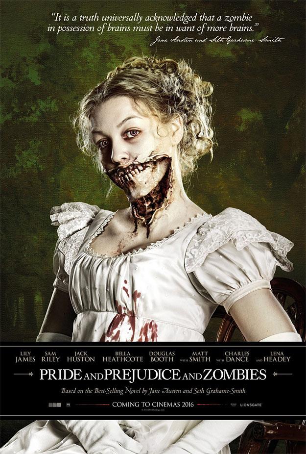 Primer cartel de Pride and Prejudice and Zombies