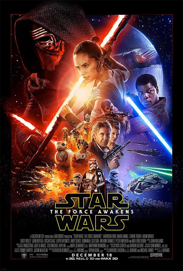 El cartel de Drew Struzan para Star Wars: El Despertar de la Fuerza