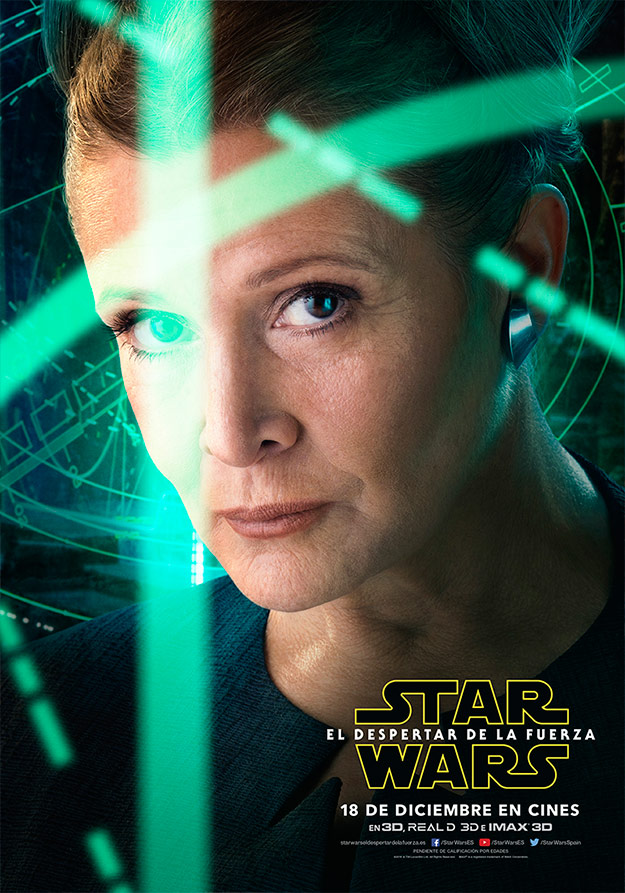 Cartel de Leia (Carrie Fisher) en Star Wars: El Despertar de la Fuerza